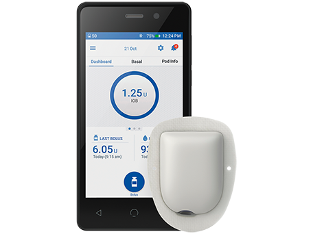 Omnipod DASH PDM and Pod image